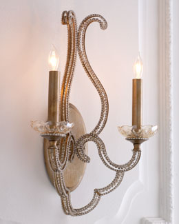 "John-Richard Collection ""Beaded Elegance"" Sconce"