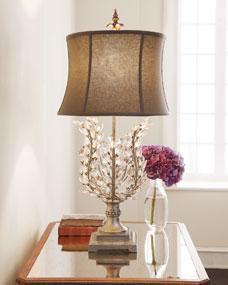 Upside-Down Glass Leaf Lamp