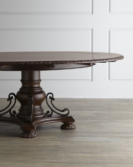 """Agatha"" Pedestal Dining Table"