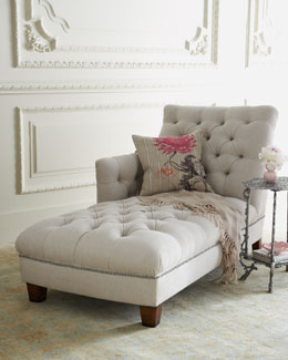 """Maddox"" Tufted Chaise"