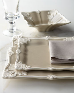 "12-Piece Square ""Baroque"" Dinnerware Service"