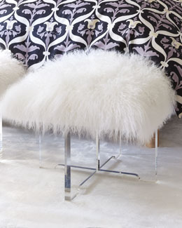 Jonathan Adler Sheepskin Bench