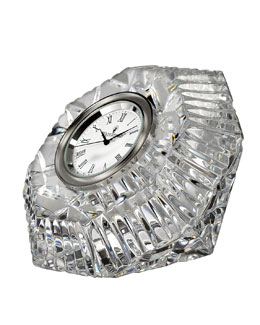 "Waterford Crystal ""Lismore"" Diamond-Shaped Clock"