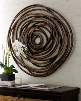 """Wooden Swirl"" Wall Decor"