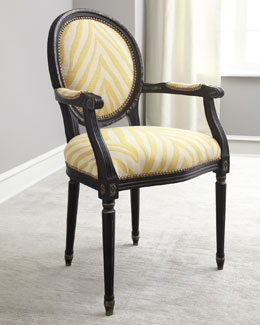 "NM EXCLUSIVE ""Gretna"" Yellow Armchair"