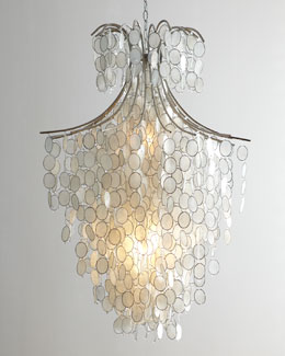 Dripping Capiz Two-Light Chandelier