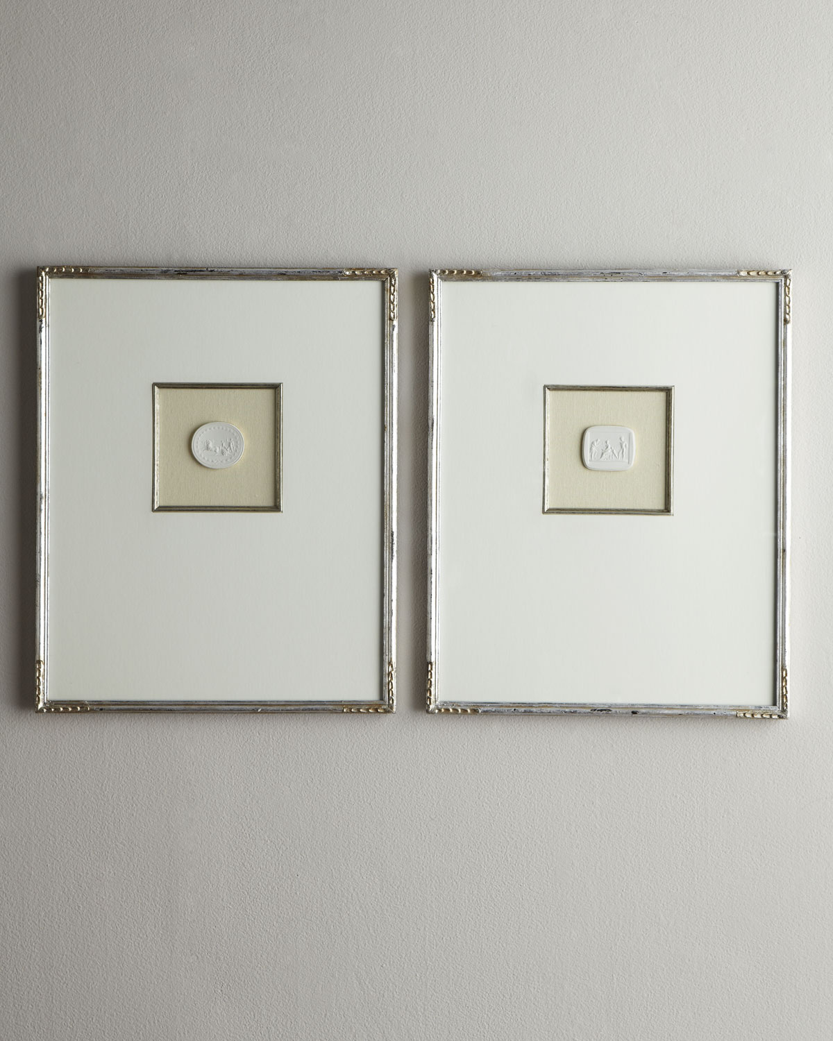 Two Large Framed Intaglios, Ivory