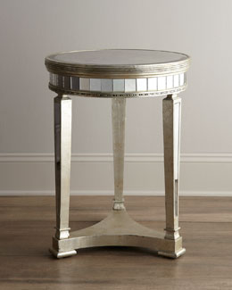 """Amelie"" Mirrored Lamp Table"