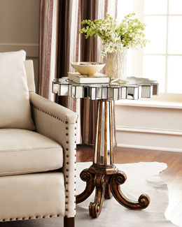 "Ambella ""Coronado"" Fluted Side Table"