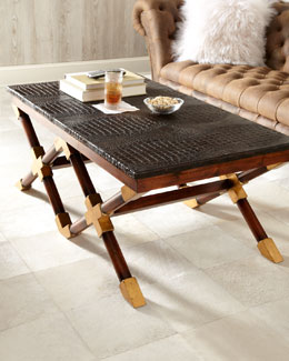 "John-Richard Collection ""Campaign"" Coffee Table"