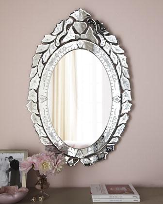 Ernhart Oval Venetian-Style Mirror