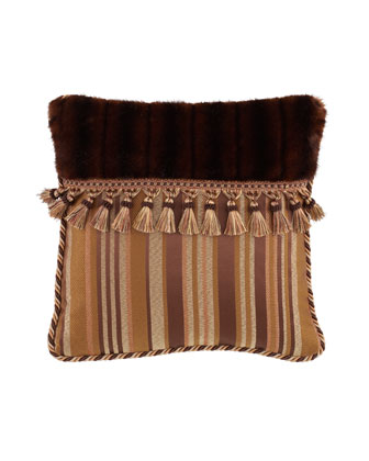 Pillow with Faux-Fur &Tassels, 18