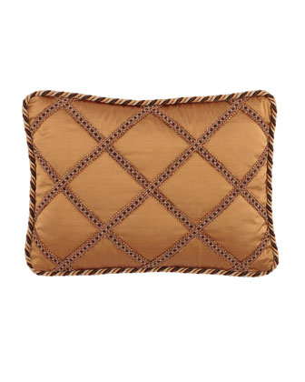 Silk Pillow with Gimp Lattice, 13
