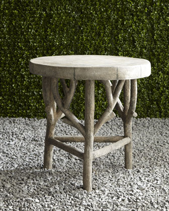 Artemis Faux Bois Side Table