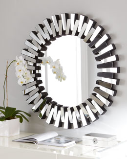 """Mingling Slats"" Mirror"