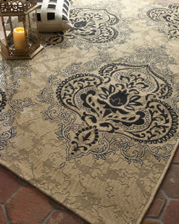 "Safavieh Outdoor Damask Rug, 5'3"" x 7'7"""