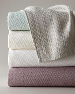 """SFERRA Full/Queen Wesley Blanket, 100"""" x 100"""""""