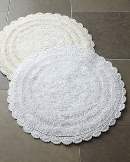 """Crochet Border"" Bath Rug"