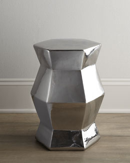 NM EXCLUSIVE Silvery Ceramic Stool
