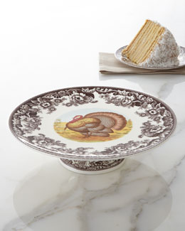 "Spode ""Turkey"" Footed Cake Stand"