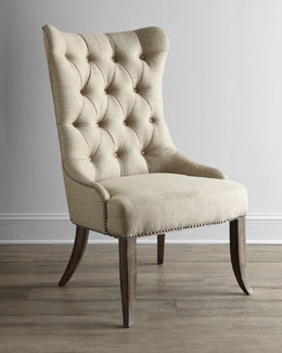 "Two ""Donabella"" Tufted Chairs"