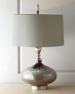 "John-Richard Collection ""Rainwater on Glass"" Table Lamp"