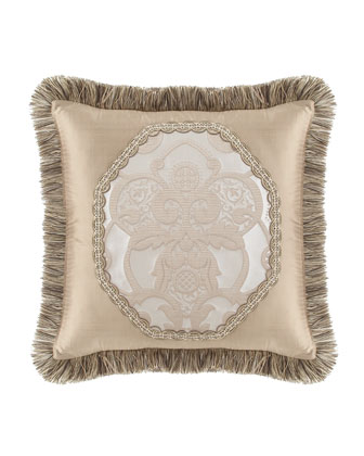 Pieced Pillow with Brush Fringe, 20