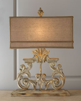 Golden Harp Table Lamp