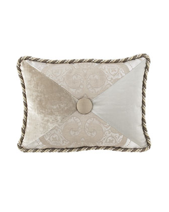 Pieced Pillow with Button Center, 12