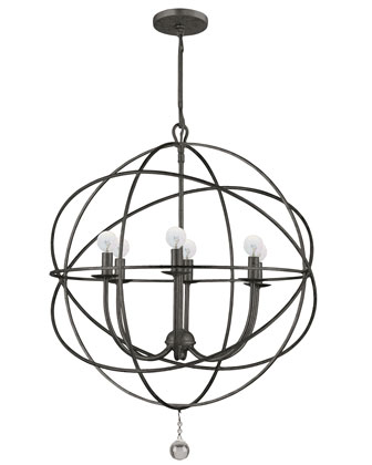 Wrought Iron Sphere Chandelier
