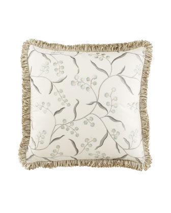 Embroidered Floral Pillow, 20