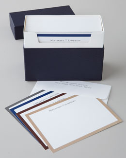 "20 ""Gentleman"" Bordered Cards & Envelopes"