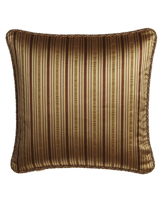 Striped European Sham with Cord Edge