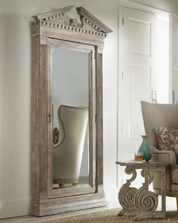 """Cavalier"" Storage Floor Mirror"