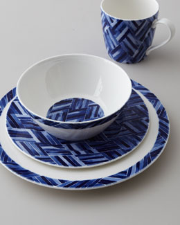 "Lauren Ralph Lauren Four-Piece ""Somerset Island Woven"" Dinnerware Place Setting"