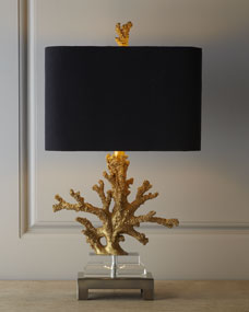 Gold Coral Lamp