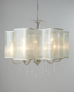 Quatrefoil Nine-Light Shaded Chandelier