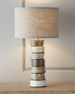 Jamie Young Stacked Horn Table Lamp