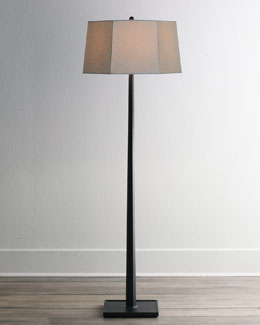 Ebony Wooden Floor Lamp