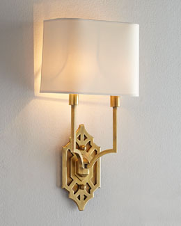 "VISUAL COMFORT ""Silhouette Fretwork"" Sconce"