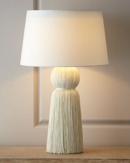 "Arteriors Ivory ""Tassel"" Table Lamp"