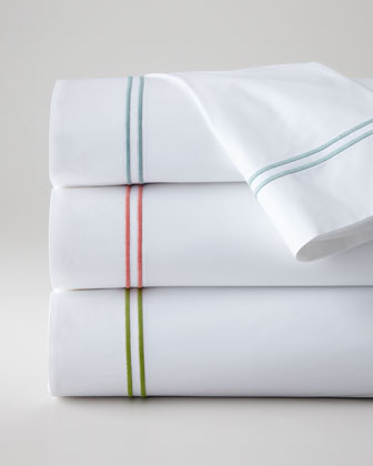King Satin-Stitched Flat Sheet