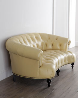 "Old Hickory Tannery ""Lenoir"" Yellow Sofa"