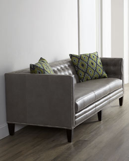 Dove Leather Sofa