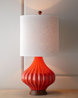 Couture Tangerine Fairfax Table Lamp