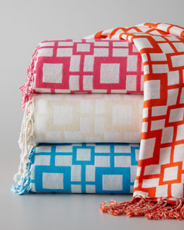 "Pine Cone Hill ""Sugari Check"" Throw"