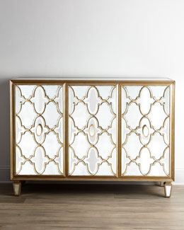 "John-Richard Collection ""Arabesque"" Mirrored Console"