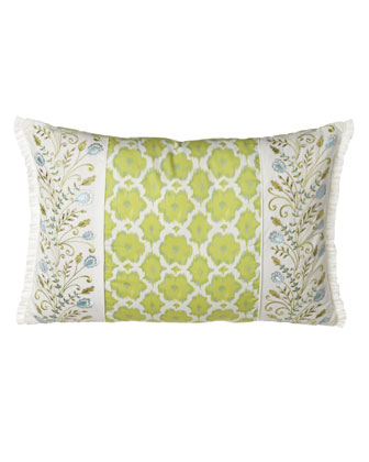 Pillow w/ Green Print at Center, 22