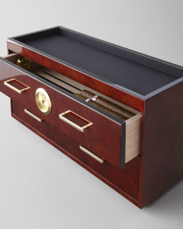 Wolf Designs Humidor with Two Drawers
