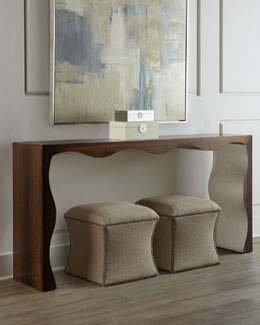 "John-Richard Collection ""Sasha"" Scalloped Console"